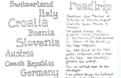 Sketching my hand out in the Balkans : Croatia