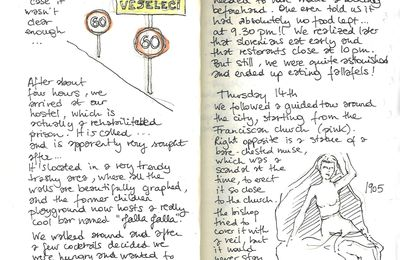 Sketching my hand out in the Balkans : Slovenia, Austria and Czech Republic