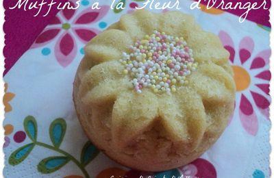 Muffins à la Fleur d'Oranger pour la Ronde Interblogs #29