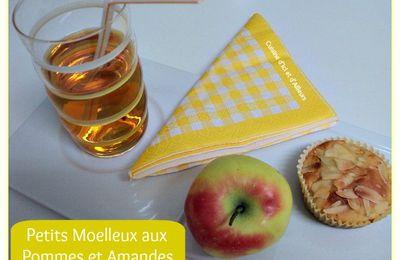 Petits Moelleux aux Pommes et Amandes Pour La Ronde Interblogs #33
