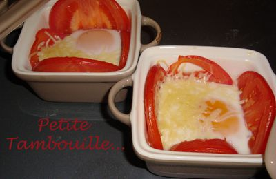 Oeuf cocotte Tomates-Gruyère