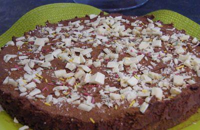 Entremet-mousse chocolat au Grand marnier sur lit de spéculoos