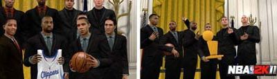 Barrack Obama dans NBA 2K11