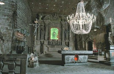mine de sel de wieliczka Chapelle de Sainte Kinga
