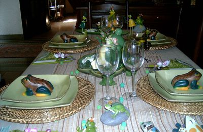 """ma table """"grenouilles"""""""