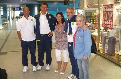 Saison 2011/2012 :Océane Eleven présent à l'aeroport pour le départ des joueurs a Annecy pour le stage d'avant saison.