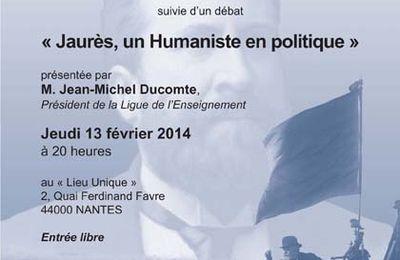"""GODF, Nantes. """"Jaurès, un Humaniste en politique"""" avec Jean-Michel Ducomte"""
