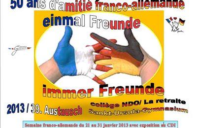 Semaine franco-allemande du 21 au 31 janvier 2013