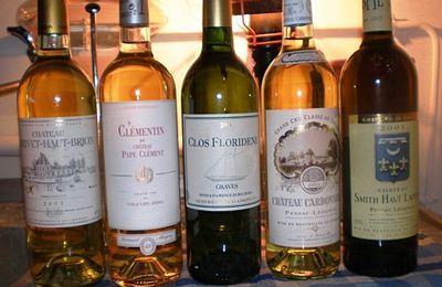 Mercredi 8 Août 2012 : « Les blancs de Bordeaux - Pessac-Léognan & Graves »