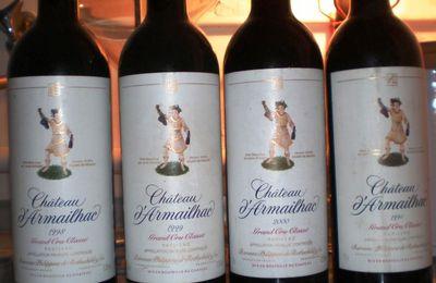 Mercredi 3 septembre 2014 : « Verticale de Château D'Armailhac, Hommage à Philippine »