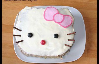 Gâteau d'anniversaire Hello Kitty pour l'école