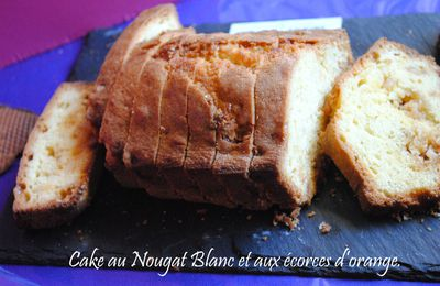 Cake au Nougat Blanc & Ecorces d'Orange.