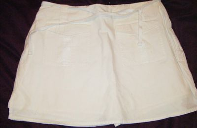 Jupe short blanche