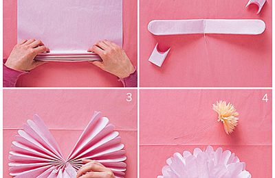 Wedding 1 : DIY pompons en papier de soie