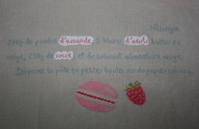 SAL Macarons à la Framboise - étape 2