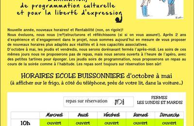 Ecole buissonnière Montjustin : programme janvier 2015