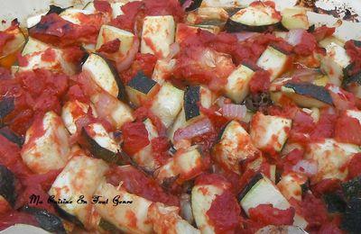 Courgettes à la tomate au four