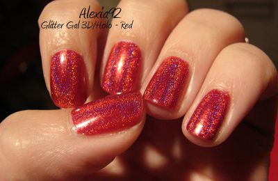 Glitter Gal 3D / Holo - Red