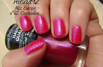 Miss Europe n°82 Grenadine