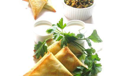Samossas aux Lentilles Blondes de St Flour ................ Oignons Confits et Moutarde d'Épices