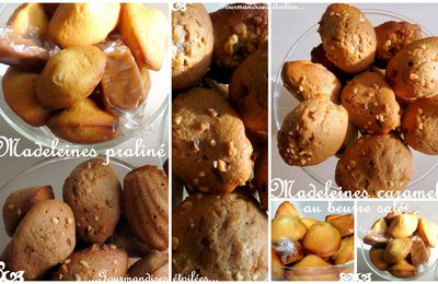 Mini madeleines praliné et caramel au beurre salé...