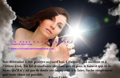 Citation d'Eileen Caddy : sois positive !