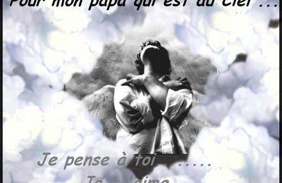 Panneau pour mon papa au ciel