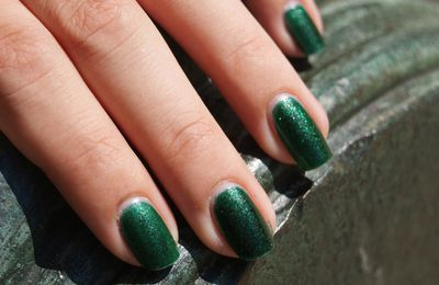 China GLaze: Emerald Sparkle