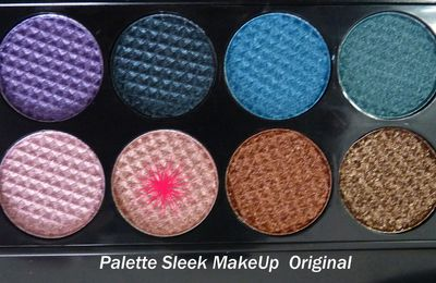 Divers maquillages avec la Sleek Original