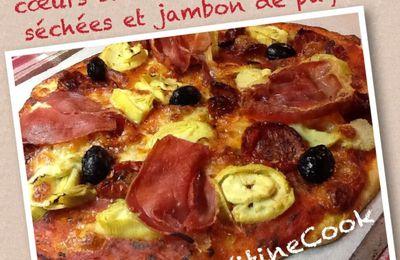 PIZZA AU COEURS D'ARTICHAUTS, TOMATES SECHEES et JAMBON DE PAYS