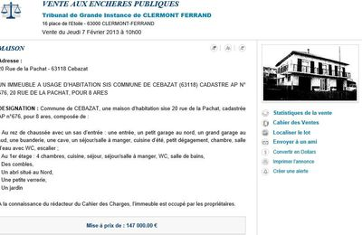 Cébazat : adjudication à 170.000 E