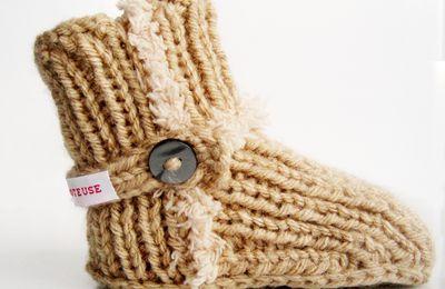 Nouveaux chaussons de bébé