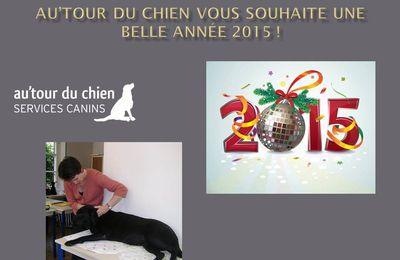 Au'tour du Chien vous souhaite une bonne année 2015 !