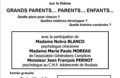 rencontre débat : Grands parents...Parents...Enfants