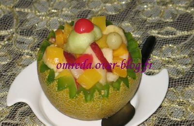 Salade De Fruits En Coupe De Melon
