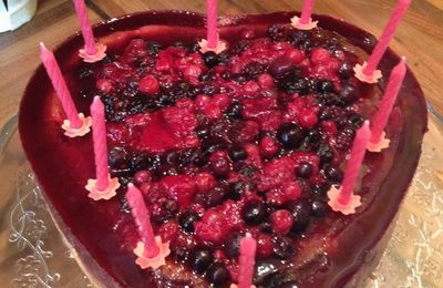 Cheesecake aux Fruits Rouges - Anniversaire Maman