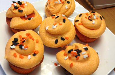 Cupcakes chocolat orange d'Halloween