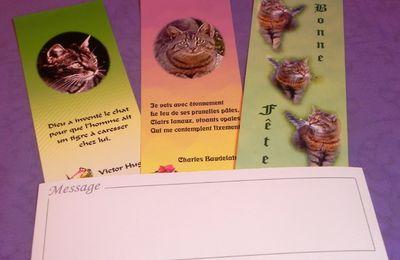 Marque-pages avec des chats