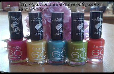 Vernis à Ongles Rimmel London été 2012