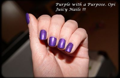 Opi. Purple with a Purpose