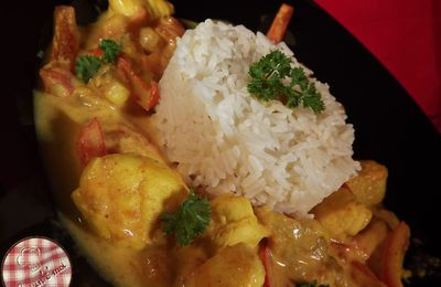 Curry de Lotte au lait de coco
