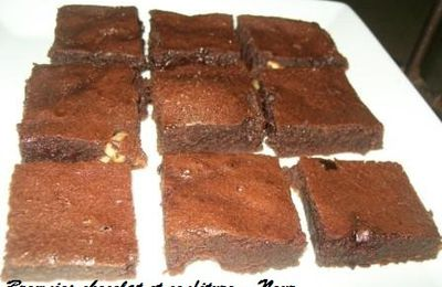 Brownie chocolat et confiture