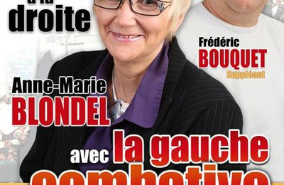 Tract de campagne d'Anne-Marie BLONDEL