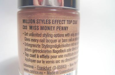 (#459) Nagellack Catrice 'Miss Money Penny'