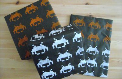 DIY - Papier cadeau Space Invaders