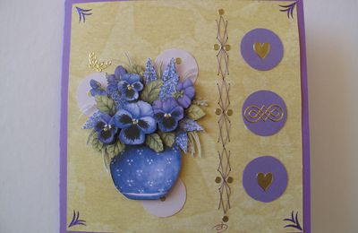 Carte Bouquet bleu