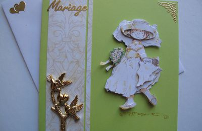 """Carte Mariage """"Personnage"""""""