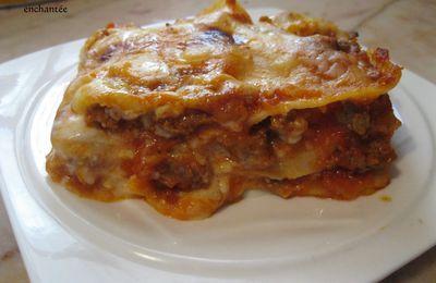 Lasagne à la sauce bolognaise et viande hachée