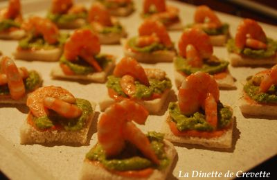 Toasts Avocat, Crevettes, Cocktail de P'tit Guy