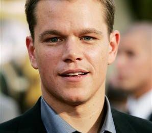 Matt Damon: Ocean's one for safe water.